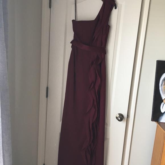 3e2e0c7010e2 White by Vera Wang bridesmaid dress in Wine color.  M_5ad53c5705f430ef7e4e68b2